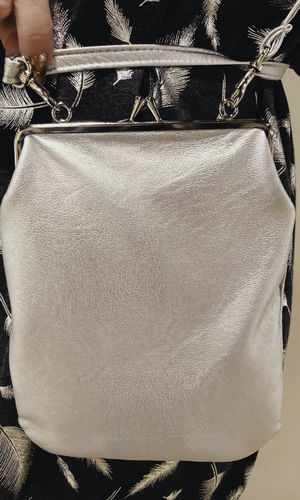 BONBON SHOULDER BAG SILVER