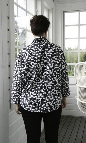 NORA BLOUSE BLACK/WHITE