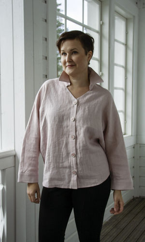 NORA LINEN BLOUSE LIGHT PINK