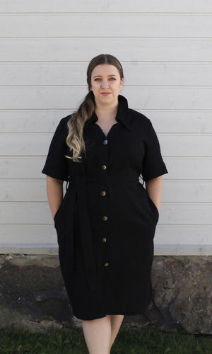 ELENA SHIRT DRESS BLACK