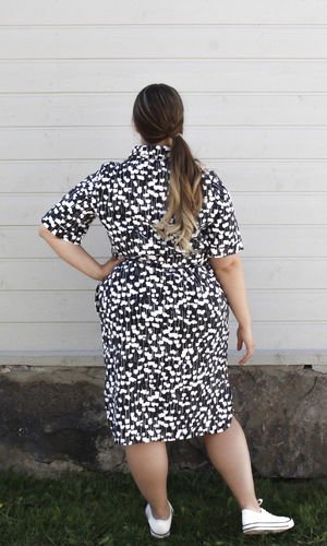 ELENA SHIRT DRESS BLACK/WHITE