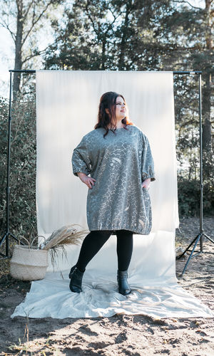 POPPY TUNIC GREY/SILVER